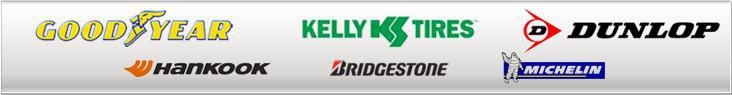 We proudly carry products from Goodyear, Kelly, Dunlop, Hankook, Bridgestone, and Michelin®.