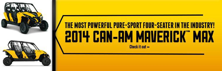 Click here to view the 2014 Can-Am Maverick™ MAX.