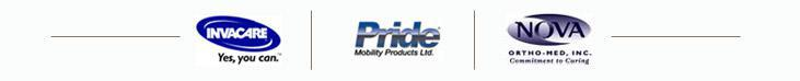 We carry products from Invacare, Pride and Nova!