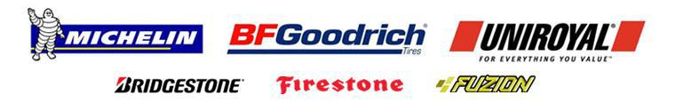 We carry products from Michelin® BFGoodrich®, Uniroyal®, Bridgestone, Firestone, and Fuzion.