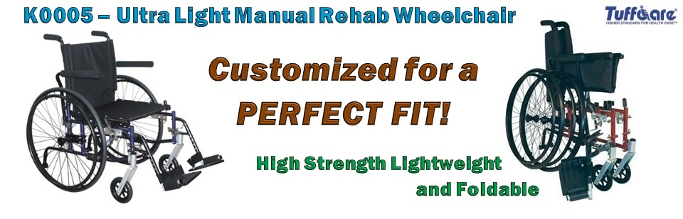 Ultra Light Manual Rehab Wheelchair