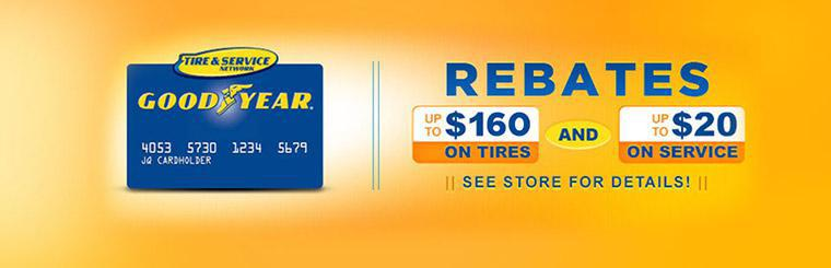 Goodyear Tire & Service Network Rebates