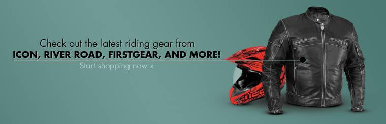 Check out the latest riding gear from Icon, River Road, Firstgear, and more!