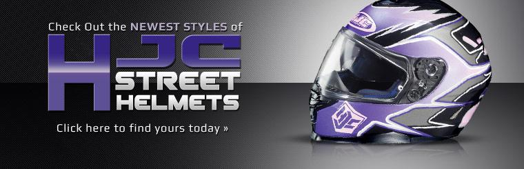 Check out the newest styles of HJC street helmets!