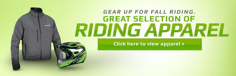 Gear up for fall riding with our great selection of riding apparel. Click here to shop.