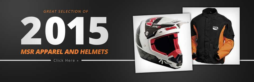 Great Selection of 2015 MSR Apparel and Helmets: Click here to browse.