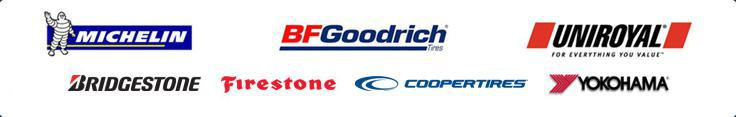 We carry products from Michelin®, BFGoodrich®, Uniroyal®, Bridgestone, Firestone, Cooper, and Yokohama.