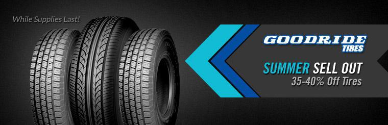 Click here to receive 35-40% off tires in our Goodride Tires Summer Sell Out sale.