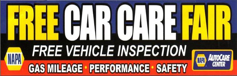 Free Car Care Fair.  Free Vehicle Inspection.  View event details here.