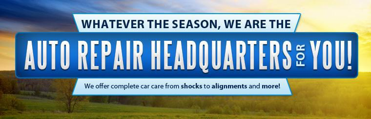 Whatever the season, we are the service station for you! We offer complete car care from shocks to alignments and more!