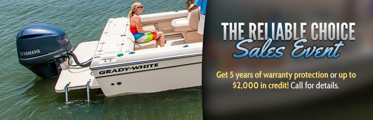 The Reliable Choice Sales Event: Get 5 years of warranty protection or up to $2,000 in credit! Call for details.