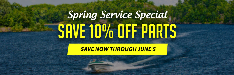 Spring Service Special: Click here for your coupon to save 10% on parts!