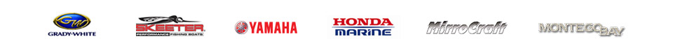 We carry products from Grady-White, Skeeter, Yamaha Outboards, Honda Marine, Mirrocraft, Montego Bay and Parker.