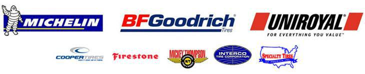 We carry brands such as Michelin®, BFGoodrich®, Uniroyal®, Cooper, Firestone, Mickey Thompson, Interco, and Specialty Tires.