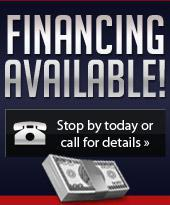 Financing available! Stop by today or call for details.