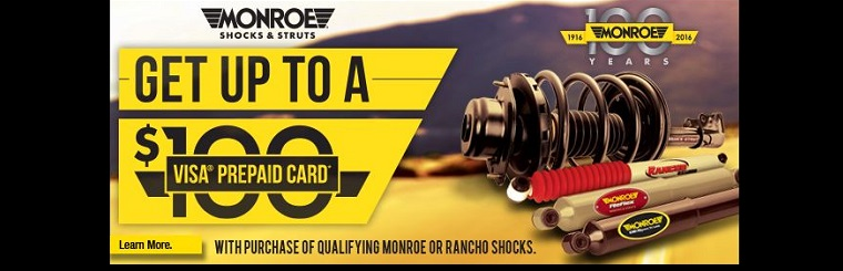 Monroe Shocks and Struts Rebate