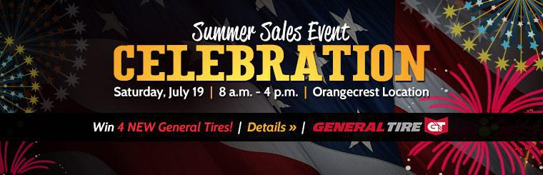 Summer Sales Event Celebration: Join us Saturday, July 19 at our Orangecrest location! Click here for details.