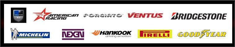 We are proud to feature products from Asanti, American Racing, Forgiato, Ventus, Bridgestone, Michelin®, Nexen, Hankook, Pirelli, and Goodyear!