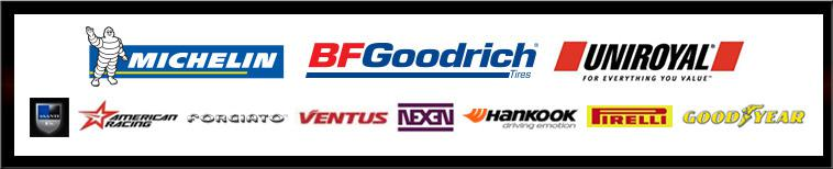 We are proud to feature products from Michelin®, BFGoodrich®, Uniroyal®, Asanti, American Racing, Forgiato, Ventus, Nexen, Hankook, Pirelli, and Goodyear!