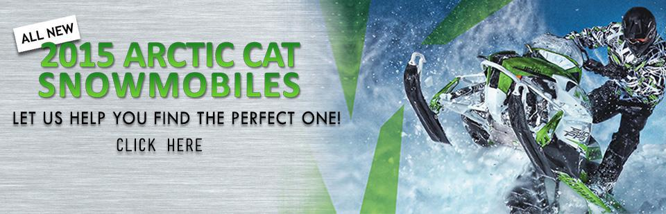 Check out the 2015 Arctic Cat Snowmobiles.
