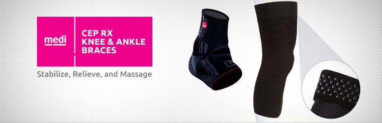 CEP Rx knee and ankle braces stabilize, relieve, and massage. Contact us for details.