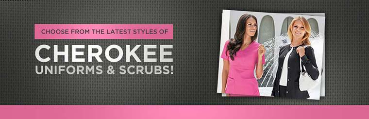 Choose from the latest styles of Cherokee uniforms and scrubs!
