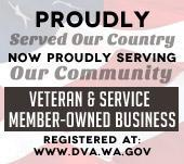 Proudly Served Our Country. Now Proudly Serving Our Community. Veteran & Service Member-Owned Business. Registered at: www.dva.wa.gov