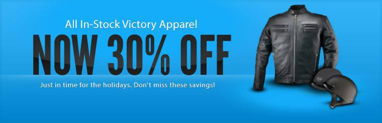 All In-Stock Victory Apparel Now 30% Off: Just in time for the holidays. Don't miss these savings!