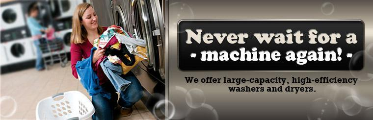 We offer large-capacity, high-efficiency washers and dryers. Click here to learn more.