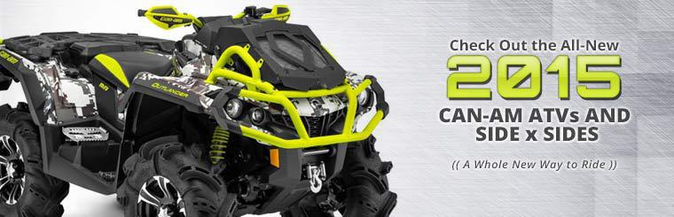 Check out the all-new 2015 Can-Am ATVs and side x sides!