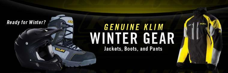 Genuine Klim Winter Gear: Click here to browse jackets, boots, and pants.