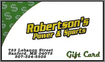 Robertson's Power & Sports Gift Cards