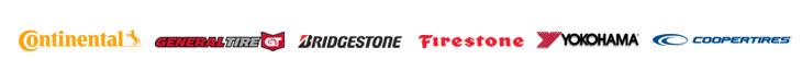 We offer products from Continental, General Tire, Bridgestone, Firestone,Yokohama, and Cooper Tires.