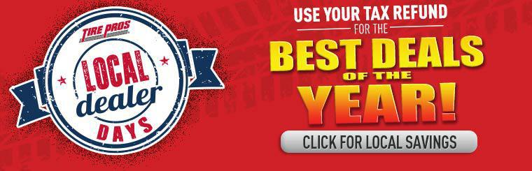 Use your tax refund for the best deals of the year! Click for local savings.