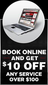 Book online and get $10 off any service over $100.