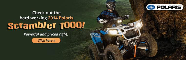 Check out the hard working 2014 Polaris Scrambler 1000!