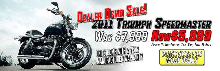 Save Big on All Remaining 2013 Triumph Cruisers