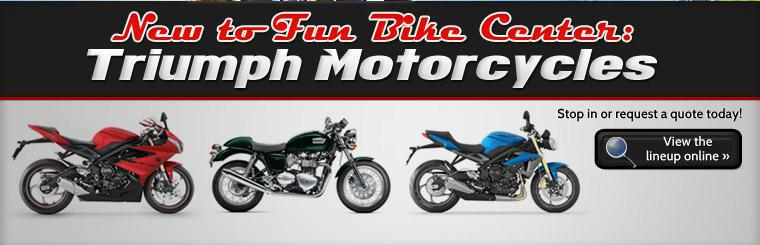 Click here to view the new lineup of Triumph motorcycles.