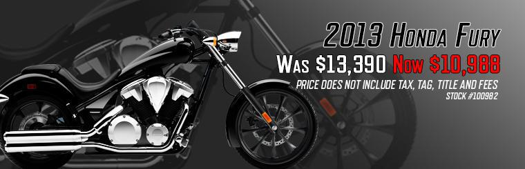 Save Over $2400 on 1300cc Honda Fury