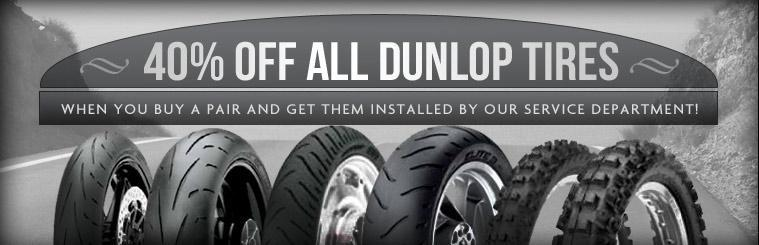 Get 40% off all Dunlop tires when you buy a pair and get them installed by our service department!