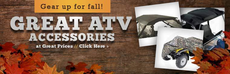 Great ATV Accessories at Great Prices: Click here to shop online.