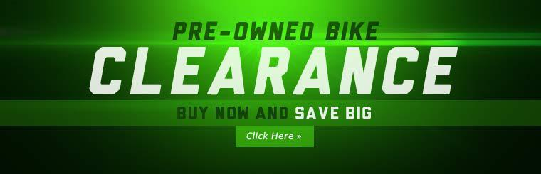 Pre-Owned Bike Clearance: Click here to view the models.
