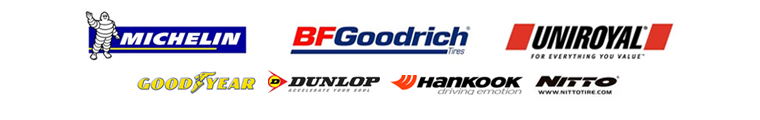 We are proud to feature tires from Michelin®, BFGoodrich®, Uniroyal®, Goodyear, Dunlop, Hankook, and Nitto!