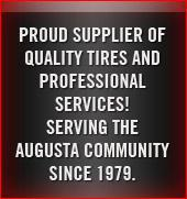 Proud supplier of quality tires and professional services!
