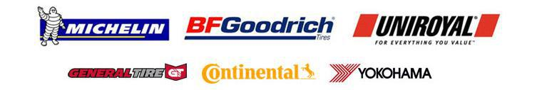 We proudly carry Michelin®, BFGoodrich®, Uniroyal®, General, Continental, and Yokohama.