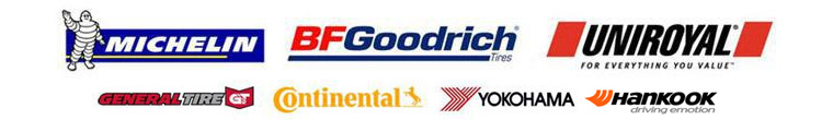 We proudly carry Michelin®, BFGoodrich®, Uniroyal®, General, Continental, Yokohama, and Hankook.