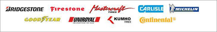 We carry products from Bridgestone, Firestone, Mastercraft, Carlisle, Michelin®, Goodyear, Uniroyal®, Kumho, and Continental.