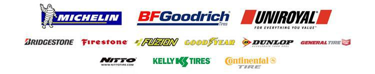 We carry products from Michelin®, BFGoodrich®, Uniroyal®, Bridgestone, Firestone, Fuzion, Goodyear, Dunlop, General, Nitto,.Kelly, and Continental.