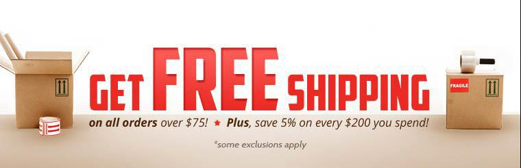 Get free shipping on all orders over $75, plus save 5% on every $200 you spend! Click here for details.