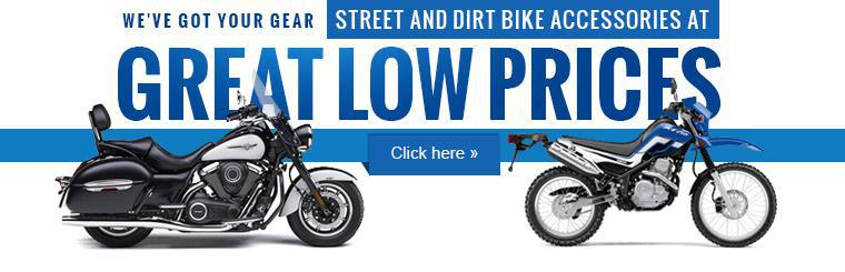Click here to shop street and dirt bike accessories at great low prices.